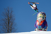 Australia's Russ Henshaw competes in the Ski Slopestyle Qualification in the XXII Olympic Winter Games at Extreme Park in Sochi, Russia.