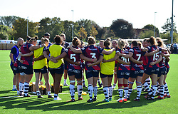 Team huddle - Mandatory by-line: Alex James/JMP - 21/09/2019 - RUGBY - Shaftesbury Park - Bristol, England - Bristol Bears Women v Saracens Women - Tyrrells Premier 15s