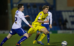 BURY, ENGLAND - New Year's Day Tuesday, January 1, 2013: Tranmere Rovers' Max Power in action against Bury during the Football League One match at Gigg Lane. (Pic by David Rawcliffe/Propaganda)