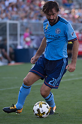 September 23, 2017 - East Hartford, Connecticut, U.S - New York City FC midfielder ANDREA PIRLO (21) during a game at Pratt & Whitney Stadium at Rentschler Field, East Hartford, CT.  New York City FC draw with the Houston Dynamo 1 to 1 (Credit Image: © Mark Smith via ZUMA Wire)