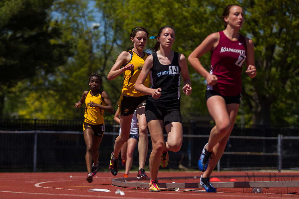 Women's 5000 meters at the NJAC Track and Field Championships at Richard Wacker Stadium on the campus of  Rowan University  in Glassboro, NJ on Sunday May 5, 2013. (photo / Mat Boyle)