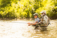 A young angler learns to fly fish from a master guide on the upper Connecticut River in northern Vermont