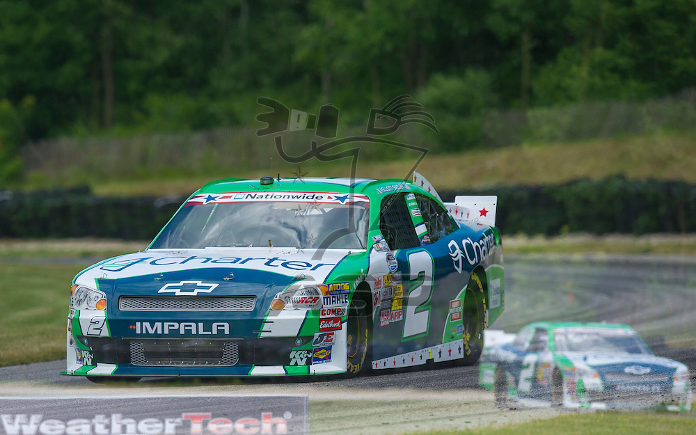 Elkhart Lake,WI - JUN 22, 2012: Elliot Sadler (2) takes to the track during the first practice for the Sargento 200  race at Road of America in Elkhart Lake , WI.