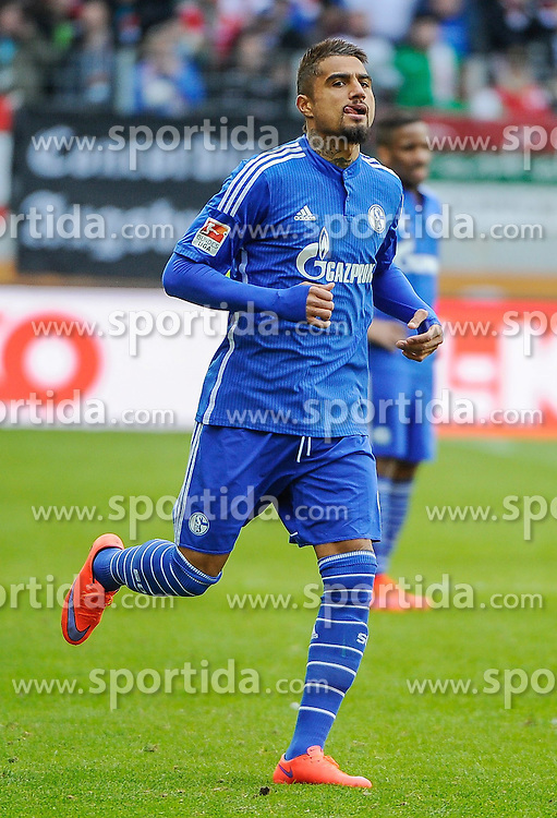 05.04.2015, SGL Arena, Augsburg, GER, 1. FBL, FC Augsburg vs Schalke 04, 27. Runde, im Bild spaet eingewechselt, Kevin-Prince Boateng (Schalke 04) 9 // during the German Bundesliga 27th round match between FC Augsburg and Schalke 04 at the SGL Arena in Augsburg, Germany on 2015/04/05. EXPA Pictures &copy; 2015, PhotoCredit: EXPA/ Eibner-Pressefoto/ Schreyer<br /> <br /> *****ATTENTION - OUT of GER*****
