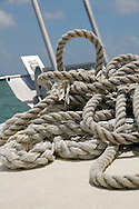 rope on the bow of boat in grand cayman