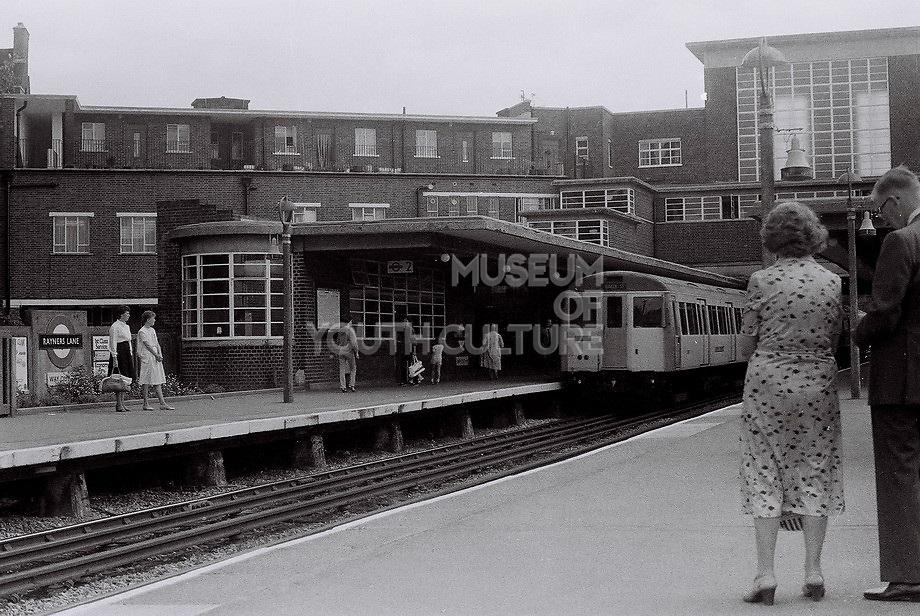 Rayners Lane tube station platform, London, UK, 1983