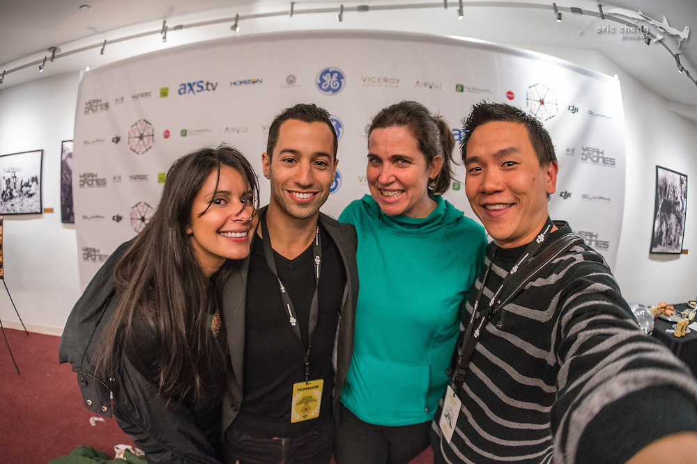 Stephanie Alderson, Sam Cossman, Stephanie Hannon, Eric Cheng. New York City Drone Film Festival 2016