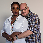 Linda and Matthew, Johannesburg, June 2015<br /> Linda is a 52 years old woman from London. Her family is from Sainte-Lucia in the Caribbean and she is a first generation British.  Matthew is 49 years old. He lived in South London until he was about 9 years-old and then moved with his family to South Africa, where he grew up, went to school and university before returning to London in 1990. They met there, got married and had a daughter. Neither in the United Kingdom nor elsewhere in Europe was race an issue between them within their family or in public. A couple of years ago, they moved to South Africa together. For Linda, being in an interracial couple in South Africa was a &ldquo;cultural  shock&rdquo;, as they were stared at and &laquo; got attitude &raquo; when together in public spaces. The experience was all the more disappointing for Linda as she had a very romantic idea about South Africa &laquo; the Rainbow Nation &raquo; before moving here and took part to the marches in support of the anti-apartheid movement. &copy; Miora Rajaonary