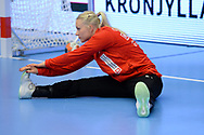 Lotte Grigel fra Danmark under VM-playoff-kampen mellem Danmark og Schweiz i Roskilde Kongrescenter Bauhaus Arena, den 1.6.2019. Photo Credit: Allan Jensen/Søren Tidemann/EVENTMEDIA.