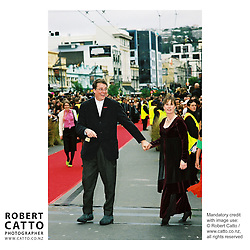 Richard Taylor;Tania Rodger at the Lord Of The Rings: Fellowship Of The Ring Premiere at the Embassy Theatre, Wellington, New Zealand.<br />