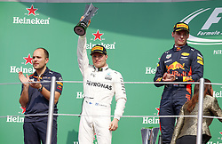October 29, 2017 - Mexico-City, Mexico - Motorsports: FIA Formula One World Championship 2017, Grand Prix of Mexico, .#77 Valtteri Bottas (FIN, Mercedes AMG Petronas F1 Team), #33 Max Verstappen (NLD, Red Bull Racing) (Credit Image: © Hoch Zwei via ZUMA Wire)