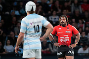 MATHIEU BASTAREAUD (Rugby Club Toulonnais), Patrick Lambie (Racing 92) during the French Championship Top 14 Rugby Union match between Racing 92 and RC Toulon on April 8, 2018 at U Arena in Nanterre, France - Photo Stephane Allaman / ProSportsImages / DPPI