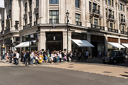 © Licensed to London News Pictures. 25/08/2017. London, UK. The new opening H&M group's first ARKET flagship store in Regent Street is situated next to Weekend store and a H&M store. ARKET has called itself a modern day market seeing not only clothes, but homeware as well as a small cafe space. Photo credit: Ray Tang/LNP