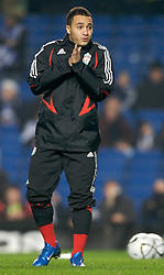LONDON, ENGLAND - Wednesday, December 19, 2007: Liverpool's Nabil El Zhar warms-up before the League Cup Quarter Final match against Chelsea at Stamford Bridge. (Photo by David Rawcliffe/Propaganda)