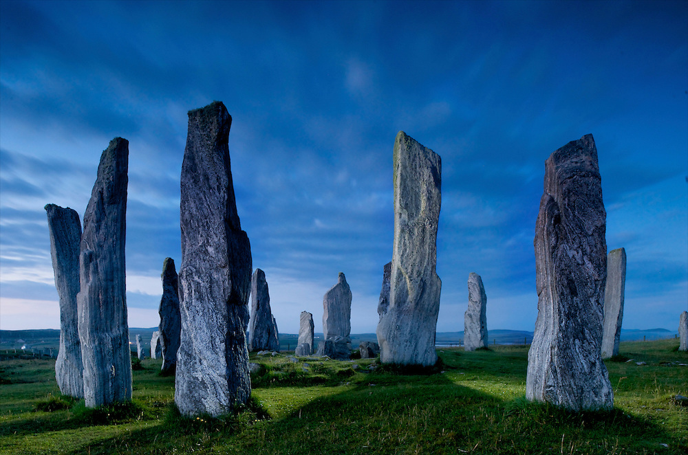 The Callanish Stones on the Isle of Lewis, Scotland. Dating from the neolithic era.