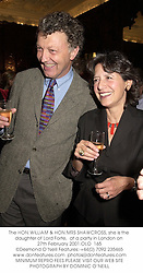 The HON.WILLIAM & HON.MRS SHAWCROSS, she is the daughter of Lord Forte,  at a party in London on 27th February 2001.	OLO  165