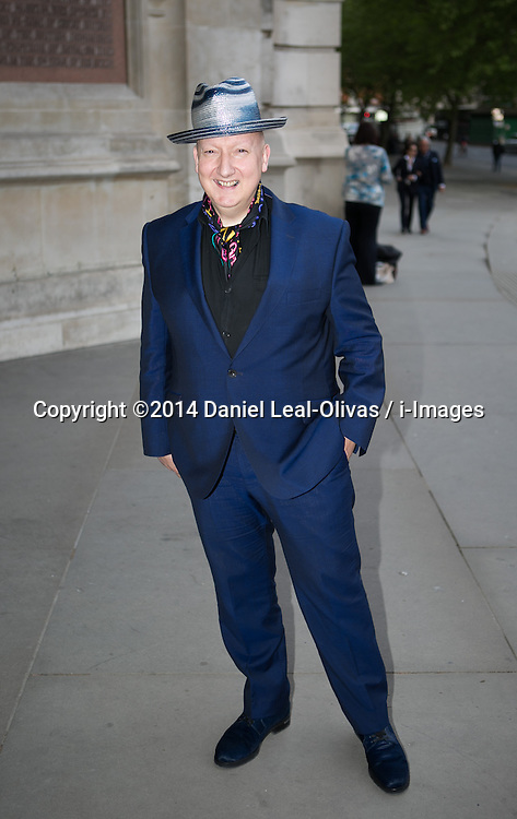 Wedding Dresses private view Arrivals. Stephen Jones arrives at the private view of new exhibition looking at how wedding dresses have changed over the years. Victoria & Albert Museum, London, United Kingdom. Wednesday, 30th April 2014. Picture by Daniel Leal-Olivas / i-Images