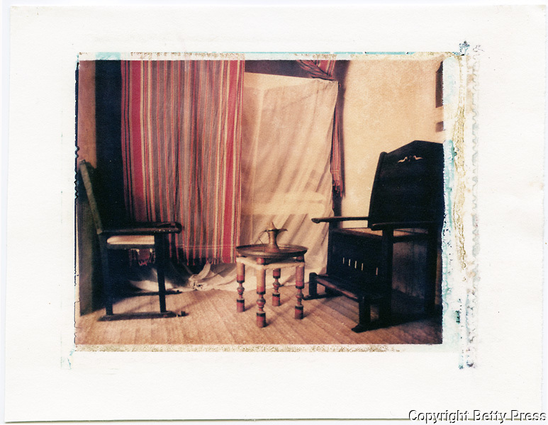 Main living room in the Swahili House Museum, Lamu, Kenya<br />