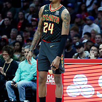 08 January 2018: Atlanta Hawks guard Kent Bazemore (24) is seen during the LA Clippers 108-107 victory over the Atlanta Hawks, at the Staples Center, Los Angeles, California, USA.