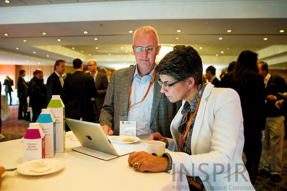 AIJN Brussels office team at the Juice Summit in Antwerp 15 - 16 October 2014. Photo: Erik Luntang