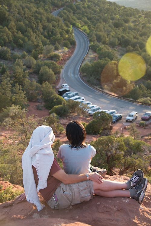 Couple Watching Sunset<br /> Airport Vortex<br /> Sedona Arizona