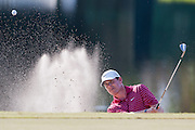 November 14, 2010: Justin Leonard hits out of the green side bunker on 17 of the Magnolia course during third round golf action from The Children's Miracle Network Hospitals Classic held at The Disney Golf Resort in Lake Buena Vista, FL.