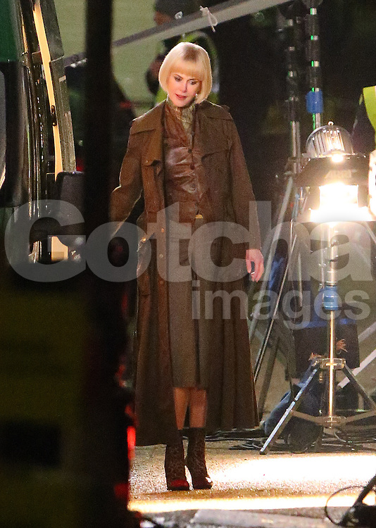 Actress Nicole Kidman onset of the new film Paddington. Nicole plays an evil taxidermist called Millicent in the forthcoming Paddington Bear film. London, UK. 04/11/2013<br />
