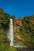 Ogi Waterfall and rainbow, near Bajawa, Flores