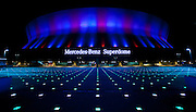 Mercedes-Benz Superdome exterior at night