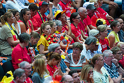 10-08-2019 NED: FIVB Tokyo Volleyball Qualification 2019 / Belgium - Netherlands, Rotterdam<br /> Third match pool B in hall Ahoy between Belgium vs. Netherlands (0-3) for one Olympic ticket / Belgium support
