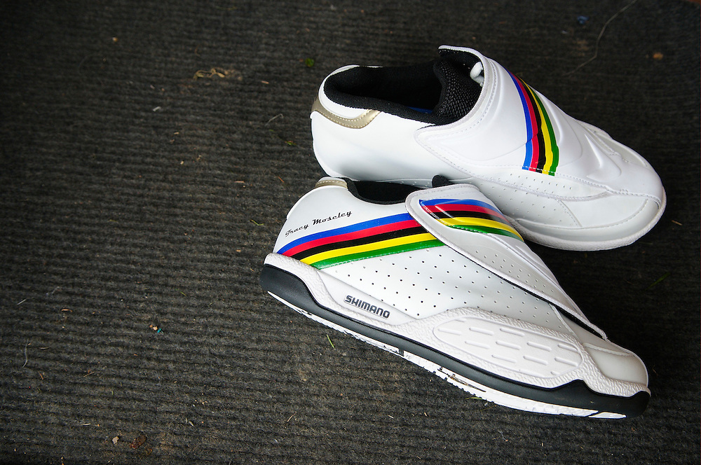 Tracy Moseley's World Champion Shimano race shoes