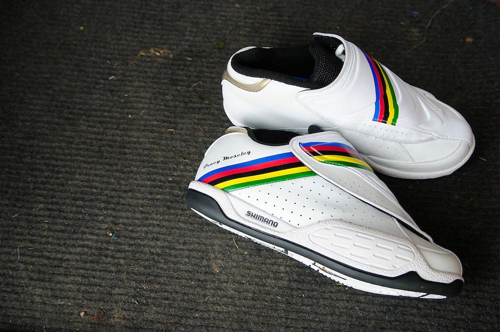 Tracy Moseley's World Champion Shimano race shoes