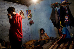 Inside a crack den in Mexico City.  Drugs use has been rising in Mexico City.  Low level dealers are now paid more often in drugs instead of money, and increased border security causes more drugs to stay in the country.  In the capital many homeless children and adults are addicted to sniffing paint thinner and also to crack.