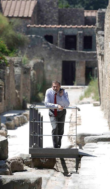 Scavi di POmpei 01 agosto 2016 :<br /> il soprintendente Massimo Osanna <br /> Ph: Stefano Renna