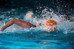 06-01-2008 WATERPOLO: EKT NEDERLAND - FRANKRIJK: AMSTERDAM<br /> De Nederlandse waterpolosters hebben het kwalificatietoernooi voor het Europees kampioenschap gewonnen. Ook Frankrijk werd verslagen met 13-2 / Ballen lijnen water duel actie creative illustratief waterpolo<br /> ©2007-WWW.FOTOHOOGENDOORN.NL