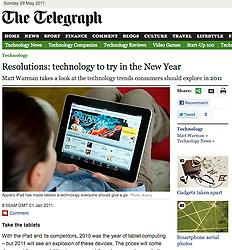 Screenshot from The Telegraph