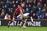 Dan Gosling (4) of AFC Bournemouth fouls Dele Alli (20) of Tottenham Hotspur during the Premier League match between Bournemouth and Tottenham Hotspur at the Vitality Stadium, Bournemouth, England on 11 March 2018. Picture by Graham Hunt.