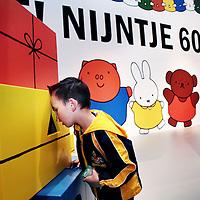 Nederland, Amsterdam , 21 april 2015.<br />Nijntje 60 jaar.<br />Op 21 juni wordt een van 's werelds beroemdste kinderhelden 60 jaar: nijntje. Dat vraagt om een verjaardagsfeest! Daarom opent het Centraal Museum in Utrecht op 20 juni opent een grote familietentoonstelling: Feest! Nijntje 60 jaar. <br />De tentoonstelling is speciaal ontwikkeld voor families met jonge kinderen (2 t/m 6 jaar) en biedt maar liefst 1.000 m2 creatief speelplezier.