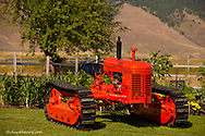 "1939 Cletrac HG, 68"" wide gauge crawler tractor restored by Dennis Black of Arlee, Montana, USA"