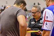 Stefano Sacripanti<br /> Banco di Sardegna Dinamo Sassari - Sidigas Scandone Avellino<br /> Precampionato 2016/2017<br /> Padru 07/09/2016<br /> Foto Ciamillo-Castoria
