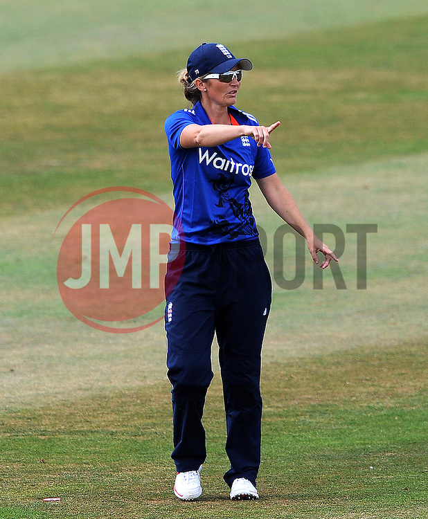 England's Charlotte Edwards- Photo mandatory by-line: Harry Trump/JMP - Mobile: 07966 386802 - 21/07/15 - SPORT - CRICKET - Women's Ashes - Royal London ODI - England Women v Australia Women - The County Ground, Taunton, England.