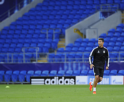 Real Madrid's Cristiano Ronaldo - Photo mandatory by-line: Joe Meredith/JMP - Mobile: 07966 386802 11/08/2014 - SPORT - FOOTBALL - Cardiff - Cardiff City Stadium - Real Madrid v Sevilla - UEFA Super Cup - Press Conference and Open Training session