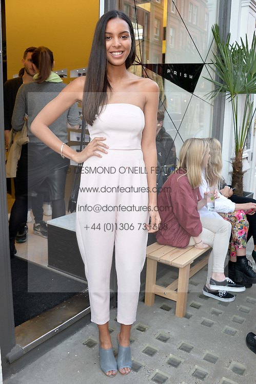 Singer-songwriter ARLISSA (RUPPERT)at the Prism Boutique Summer Party held at Prism, 54 Chiltern Street, London on 14th May 2014.