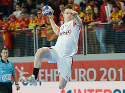 DAMGAARD NIELSEN Michael of Denmark during handball match between National teams of Macedonia and Denmark on Day 7 in Main Round of Men's EHF EURO 2018, on January 24, 2018 in Arena Varazdin, Varazdin, Croatia. Photo by Mario Horvat / Sportida