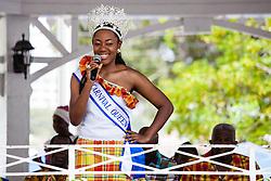 "Carnival Queen Derisa Greaves.  ""Alvin's Cultural Workshop"" Cultural Fair honoring Mr. Alvin Turnbull.  Emancipation Garden.  St. Thomas, VI.  29 April 2015.  © Aisha-Zakiya Boyd"
