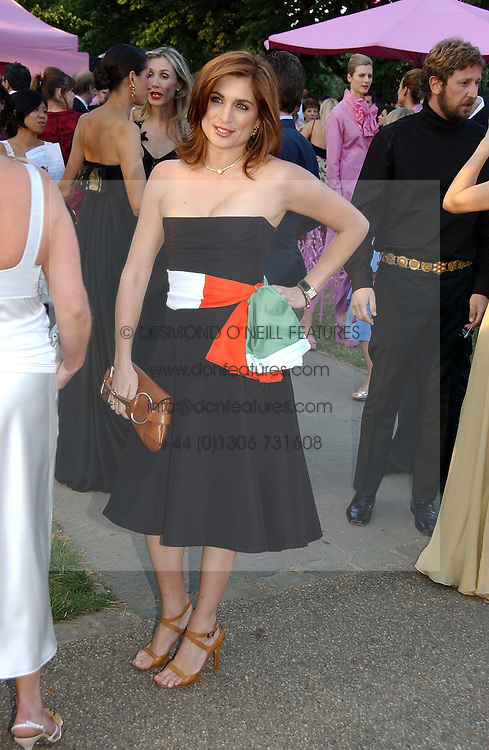 VANESSA NEUMANN at the Serpentine Gallery Summer party sponsored by Yves Saint Laurent held at the Serpentine Gallery, Kensington Gardens, London W2 on 11th July 2006.<br />