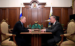 June 5, 2017 - Moscow, Russia - June 5, 2017. - Russia, Moscow. - Russian President Vladimir Putin meets with Nikolay Patrushev (right), Secretary of the Security Council of the Russian Federation. (Credit Image: © Russian Look via ZUMA Wire)