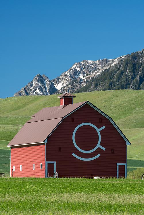 Historic Brennan barn in Oregon's Wallowa Valley.