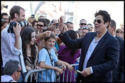 SAN SEBASTIAN, SPAIN - SEPTEMBER 22: Actor Benicio del Toro arrives at the Maria Cristina Hotel during 60th San Sebastian International Film Festival on September 22, 2012 in San Sebastian, Spain. Photo By Nacho lopez / DyD Fotografos / i-Images