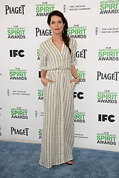 Katie Aselton at the 2014 Film Independent Spirit Awards Arrivals, Santa Monica Beach, Santa Monica, United States, Saturday, 1st March 2014. Picture by Hollywood Bubbles / i-Images<br /> UK ONLY